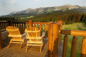 Bridger Vista Family Lodge a 4-bedroom, 3-bath Log Home in Bozeman, Montana.  - Bozeman, Montana, United States