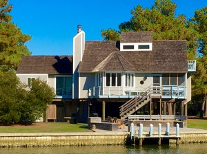 Chincoteague Island, Virginia. Assateague area Spinnaker Waterfront Vacation House - Chincoteague Island, Virginia, United States