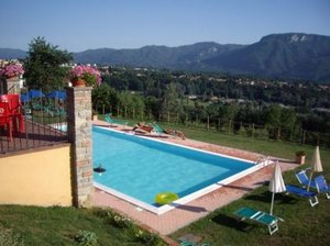 Barga, Italy. Charming house on Tuscan hillside, stunning view - Barga, Non US or Canada, Italy