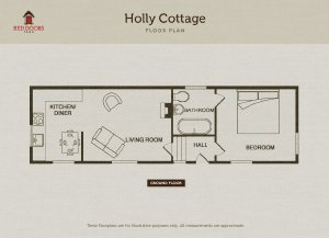 Holly Cottage, 1 of 6 self-catering cottages at Red Doors Farm in Devon, England has 1 bedroom, 1 bathroom and sleeps 2.  - Devon, Non US or Canada, England