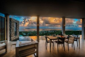 Saint Martin, French Side. Sunrise, an ultra-modern villa overlooking Orient Bay, has 3-BR, 3-BA and an infinity pool. - Orient Bay, Non US or Canada, Saint Martin